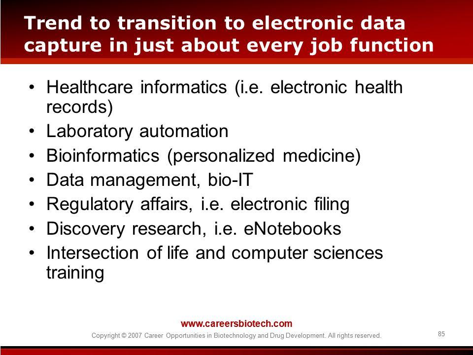 Healthcare informatics (i.e. electronic health records)
