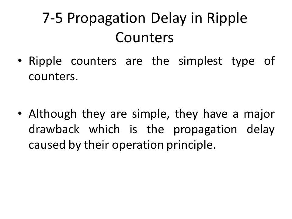 7-5 Propagation Delay in Ripple Counters