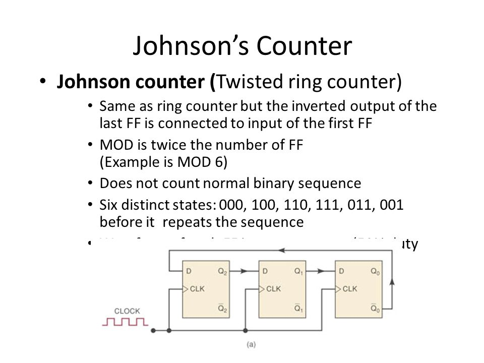 Johnson's Counter Johnson counter (Twisted ring counter)