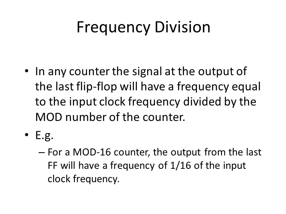 Frequency Division