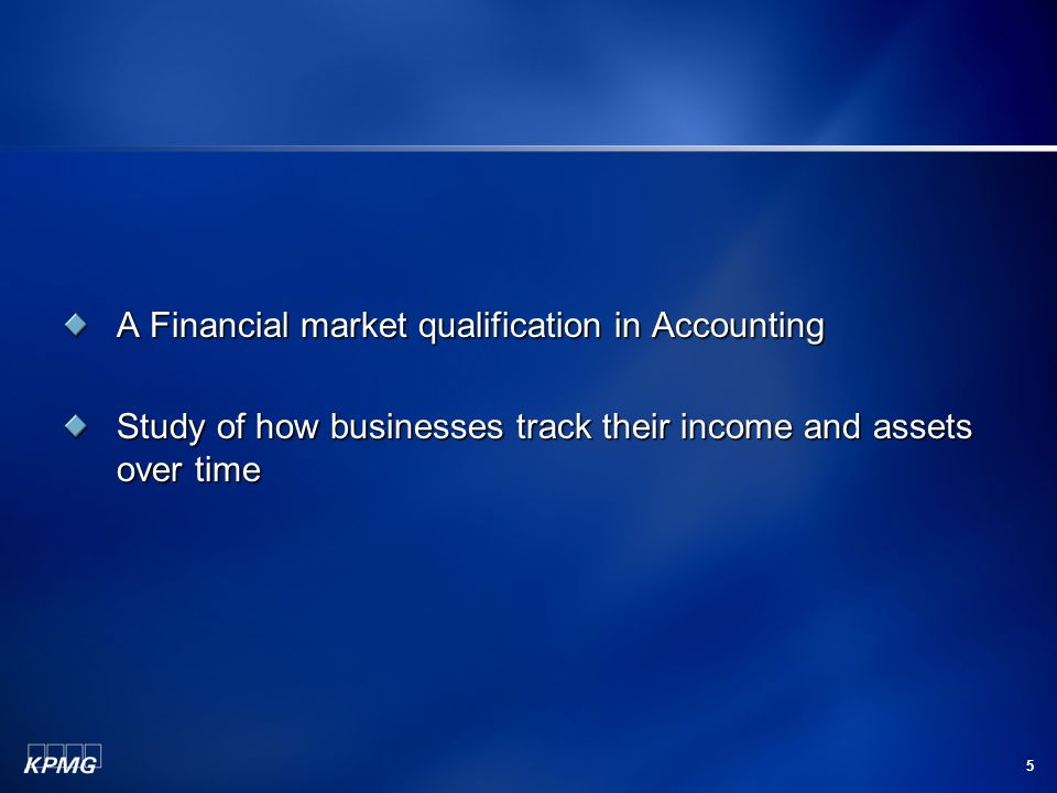 A Financial market qualification in Accounting