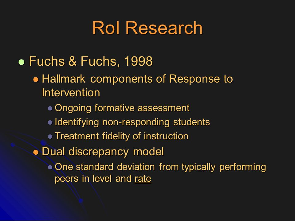RoI Research Fuchs & Fuchs, 1998