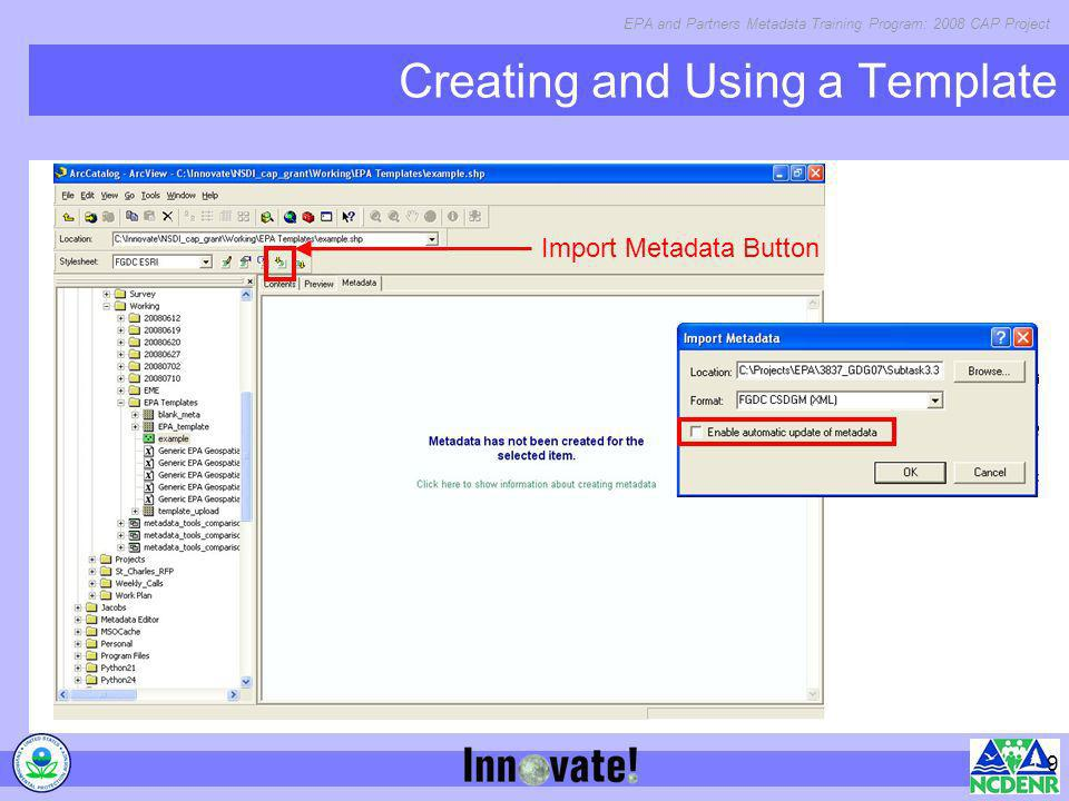 Creating and Using a Template
