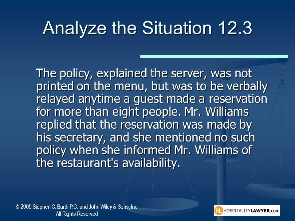 Analyze the Situation 12.3