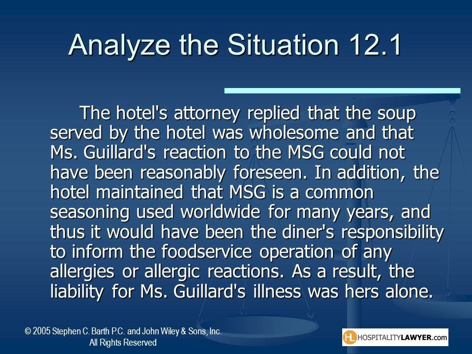 Analyze the Situation 12.1