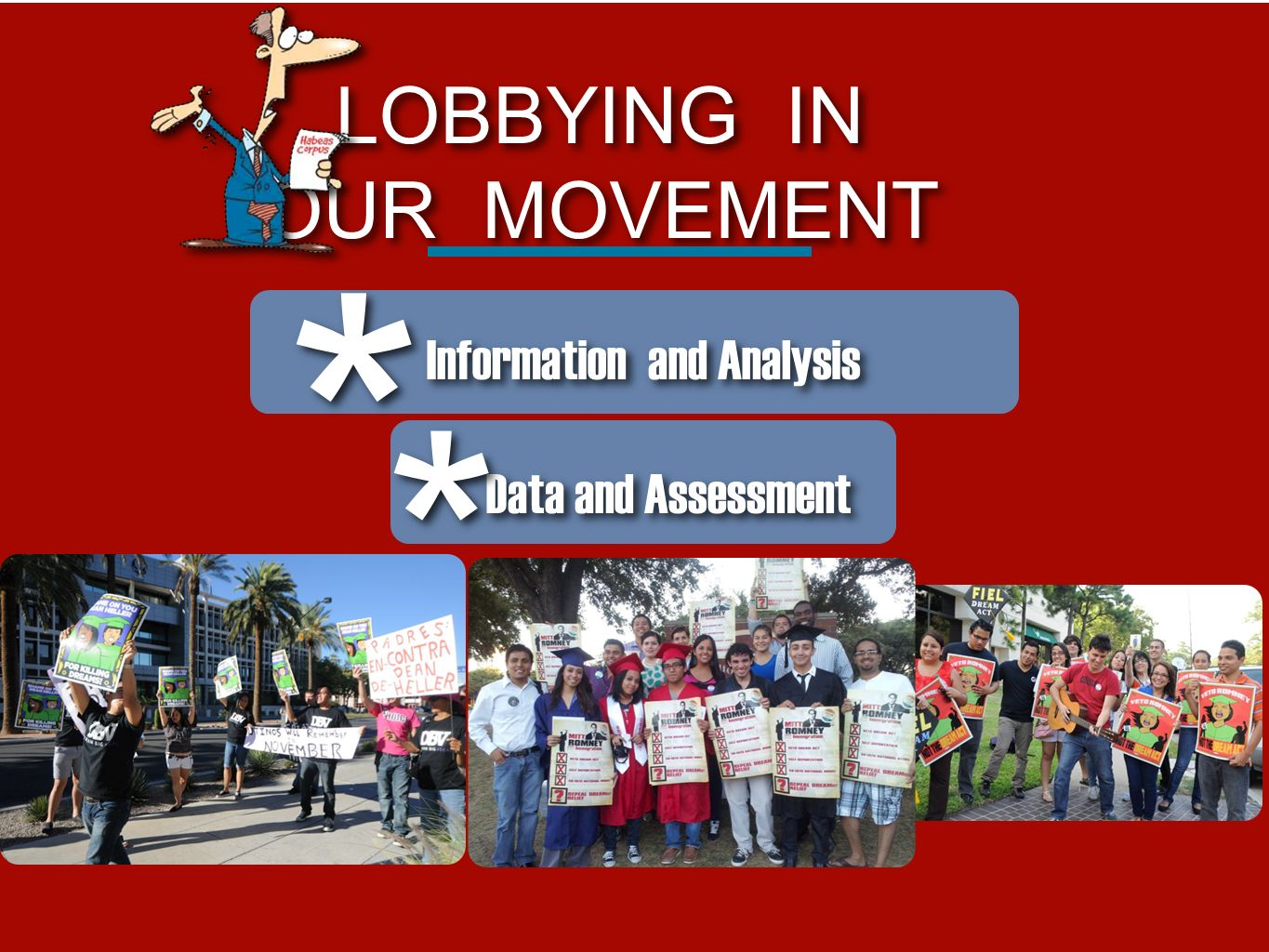 * * LOBBYING IN OUR MOVEMENT Information and Analysis