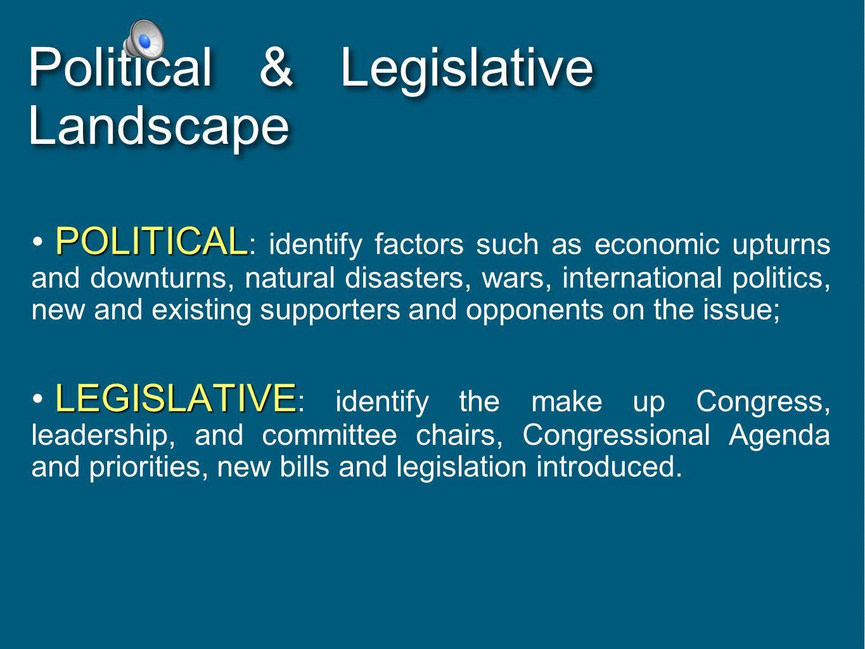 Political & Legislative Landscape