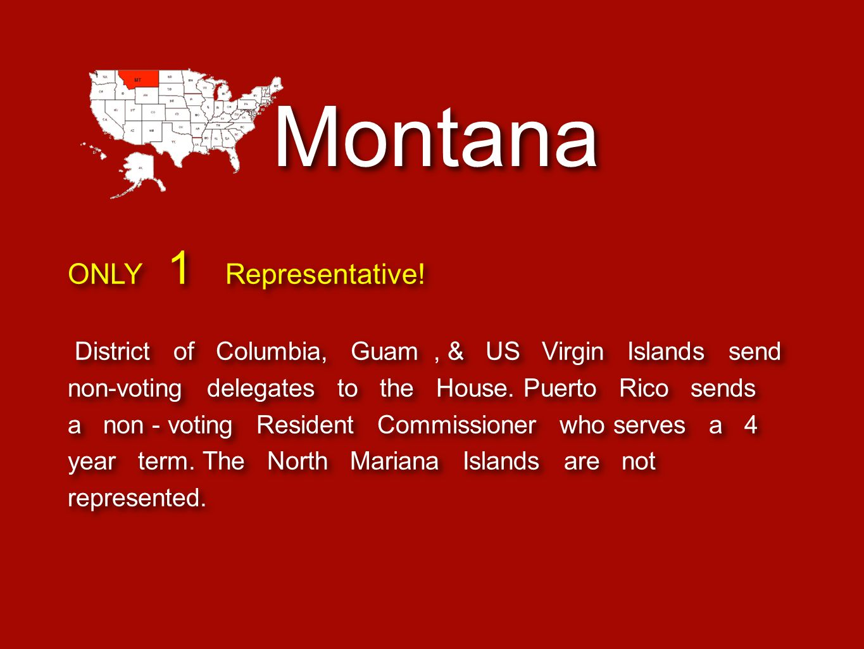 Montana ONLY 1 Representative!