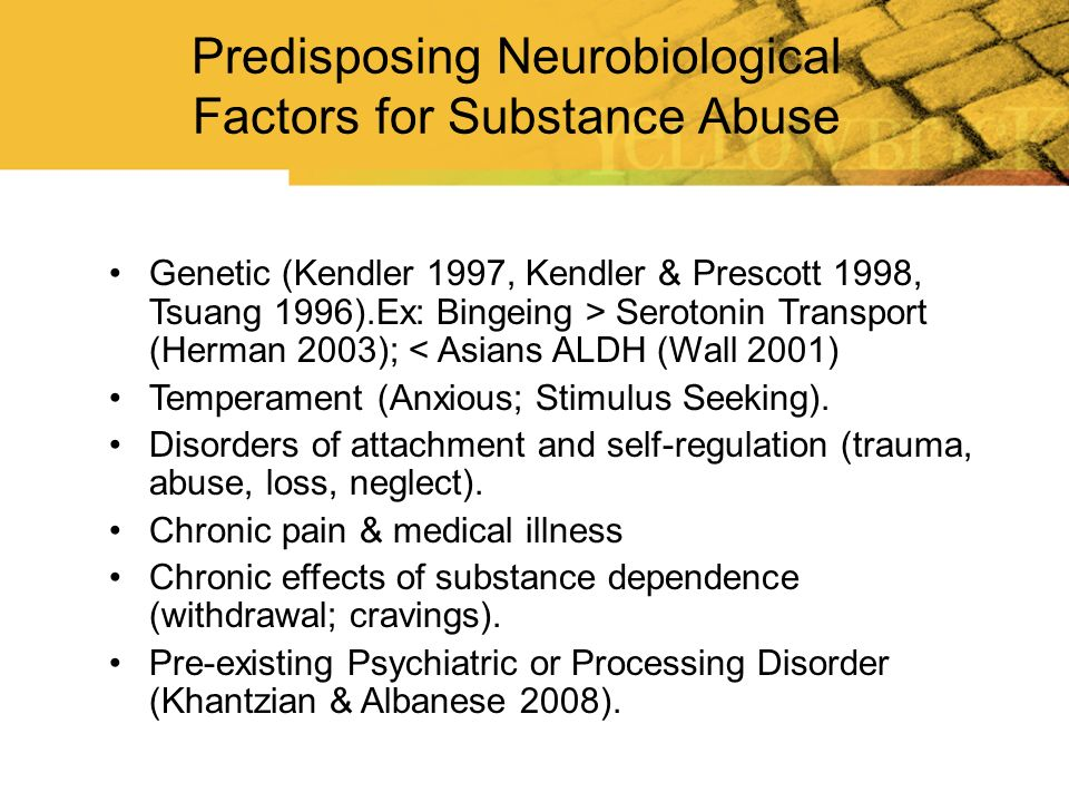 Predisposing Neurobiological Factors for Substance Abuse