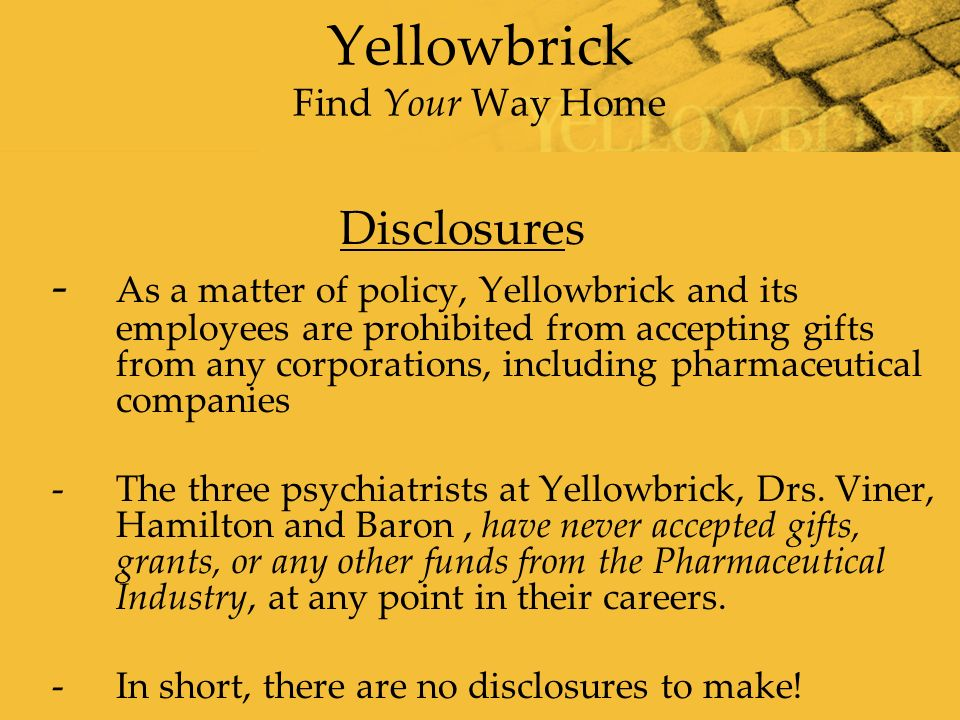 Yellowbrick Find Your Way Home