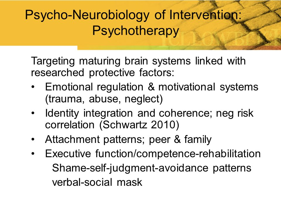 Psycho-Neurobiology of Intervention: Psychotherapy