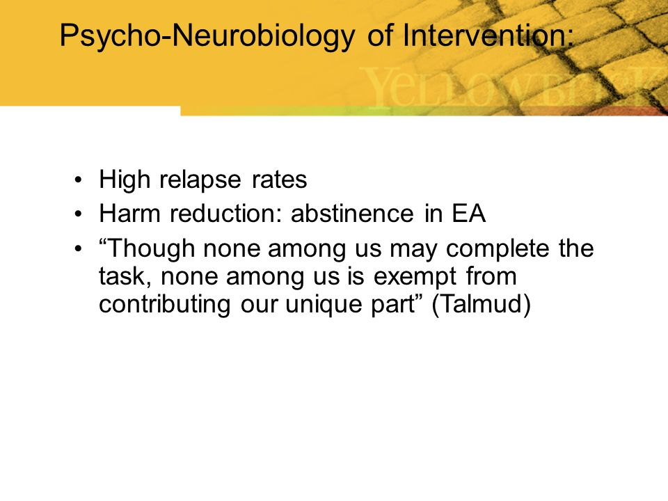 Psycho-Neurobiology of Intervention: