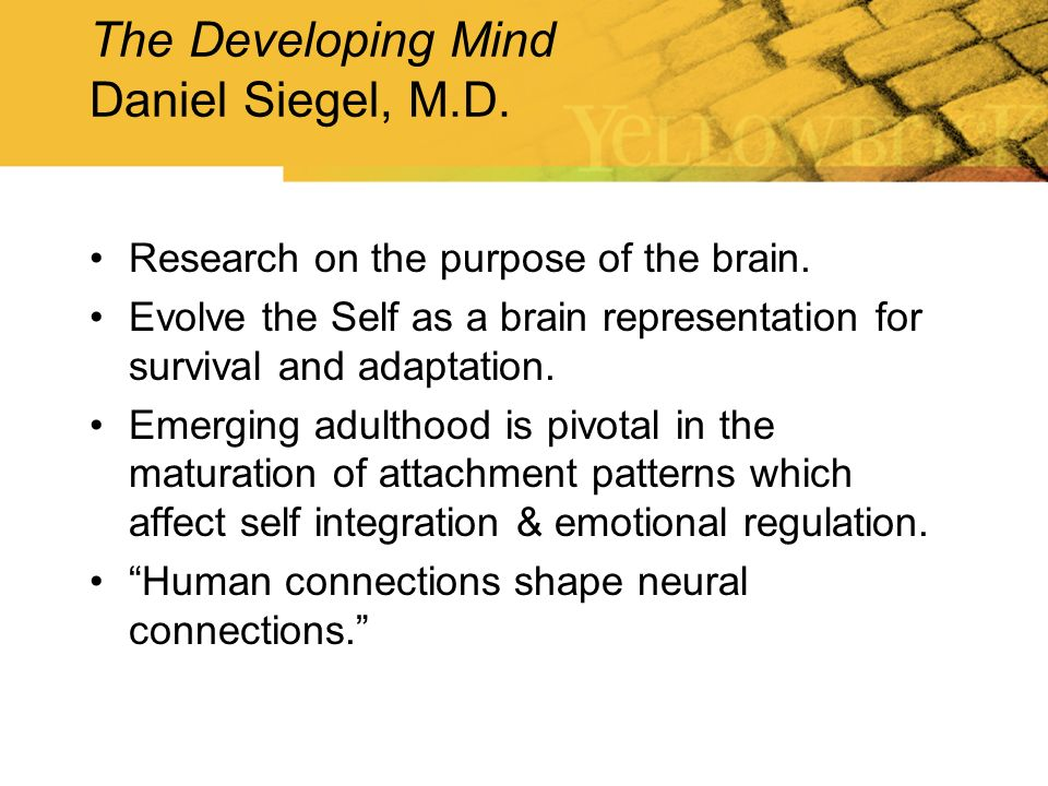 The Developing Mind Daniel Siegel, M.D.