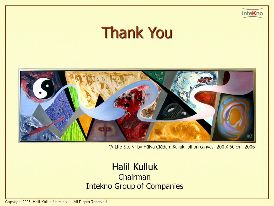 Halil Kulluk Chairman Intekno Group of Companies