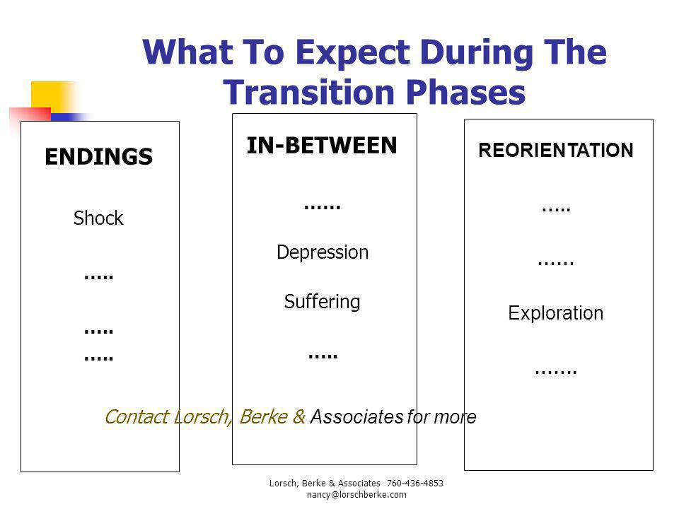 What To Expect During The Transition Phases