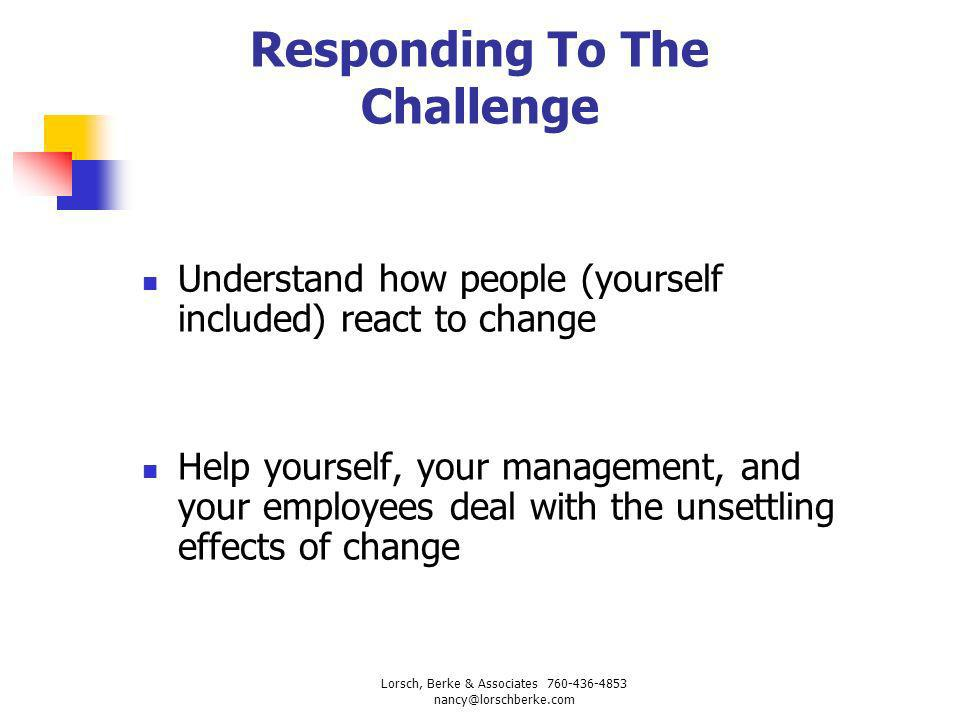 Responding To The Challenge