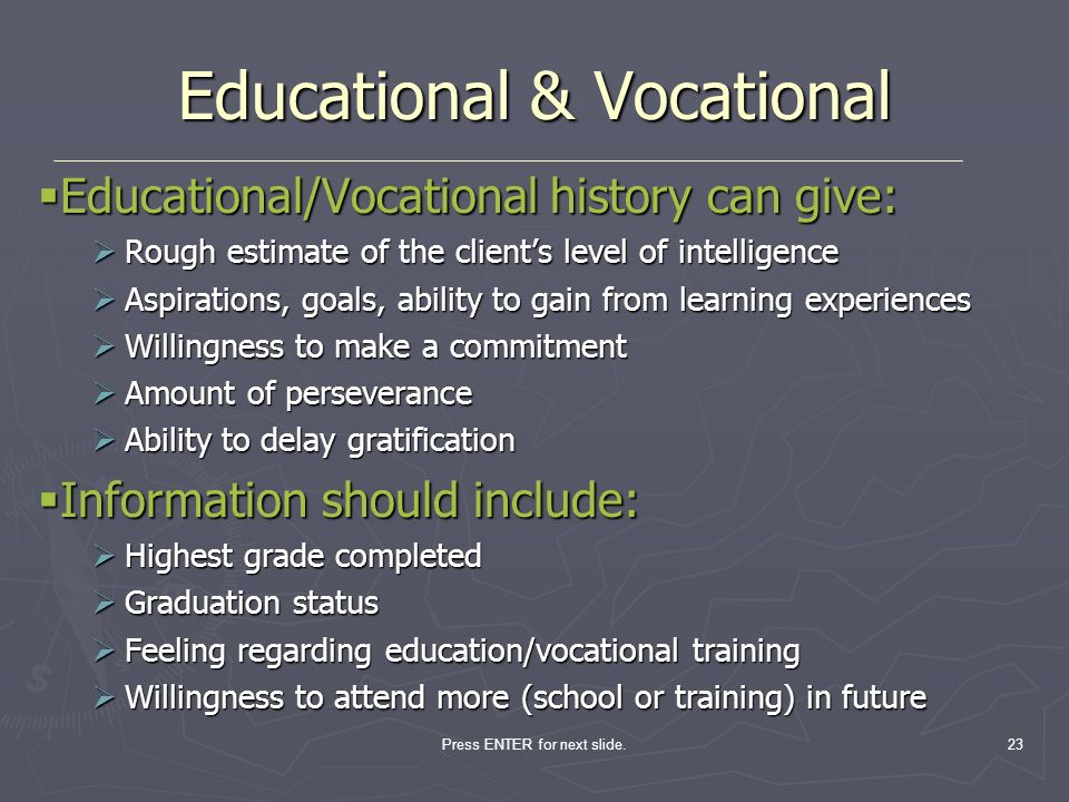 Educational & Vocational