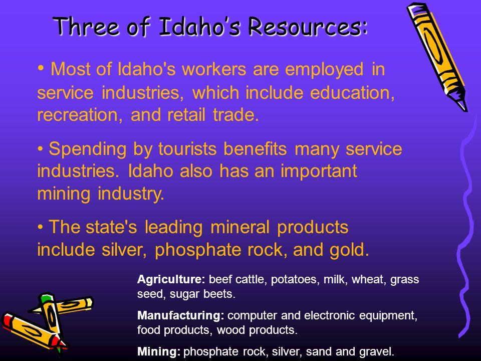 Three of Idaho's Resources: