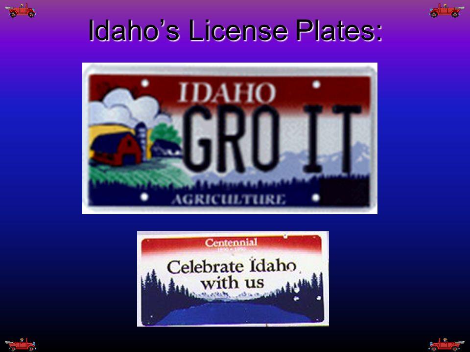 Idaho's License Plates: