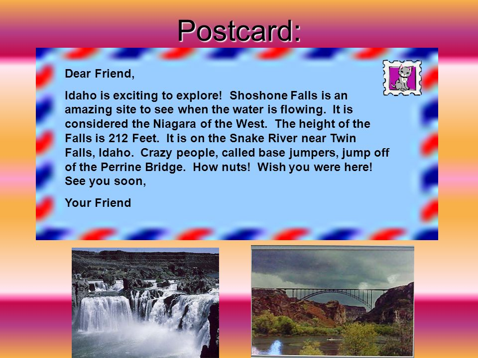 Postcard: Dear Friend,