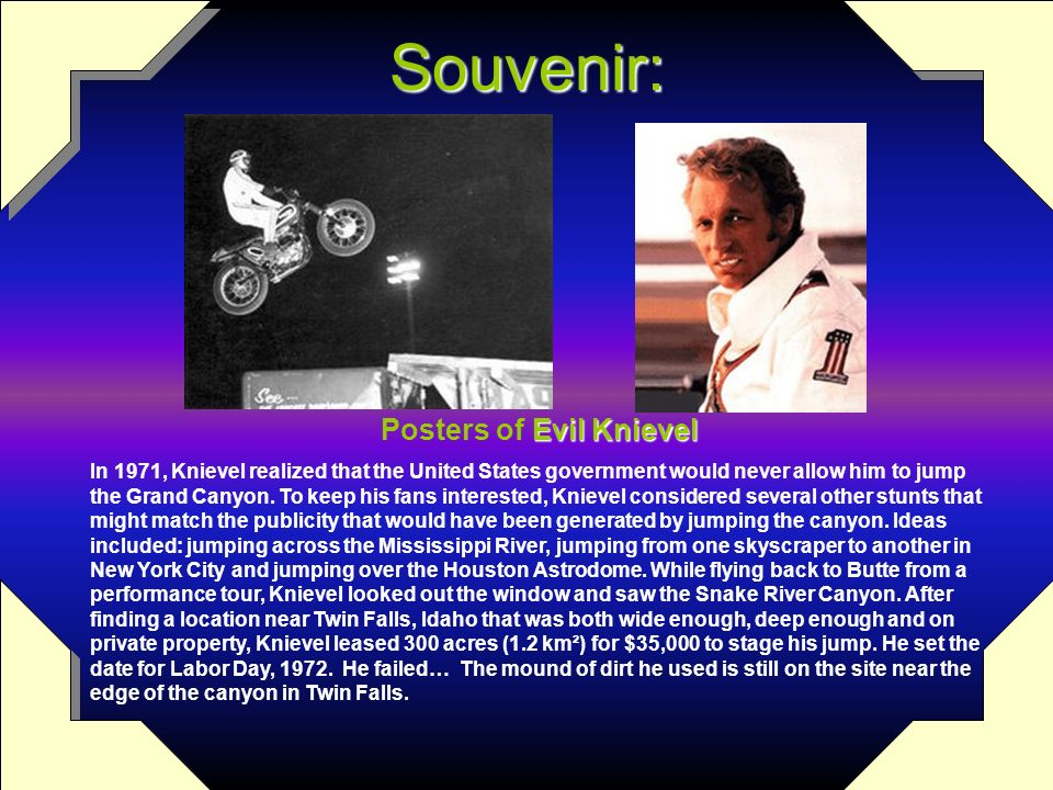 Posters of Evil Knievel