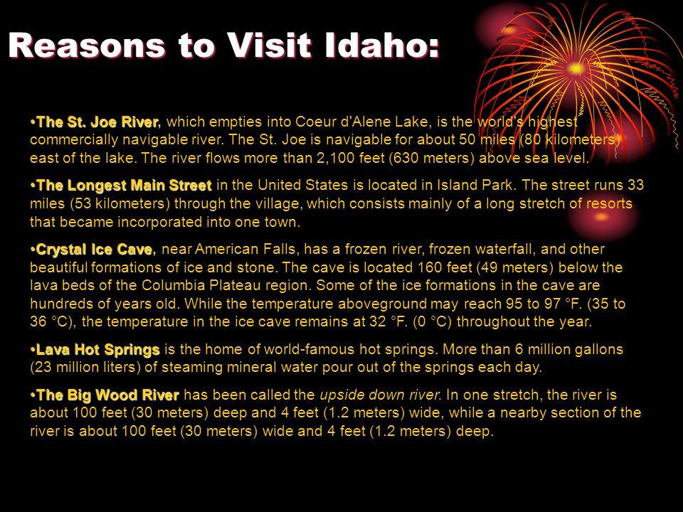 Reasons to Visit Idaho: