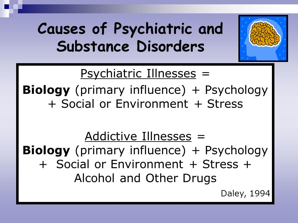 Causes of Psychiatric and Substance Disorders