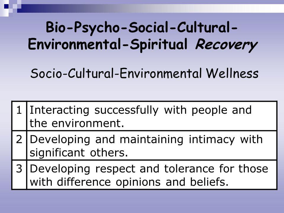 Bio-Psycho-Social-Cultural-Environmental-Spiritual Recovery
