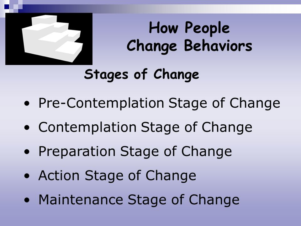 How People Change Behaviors