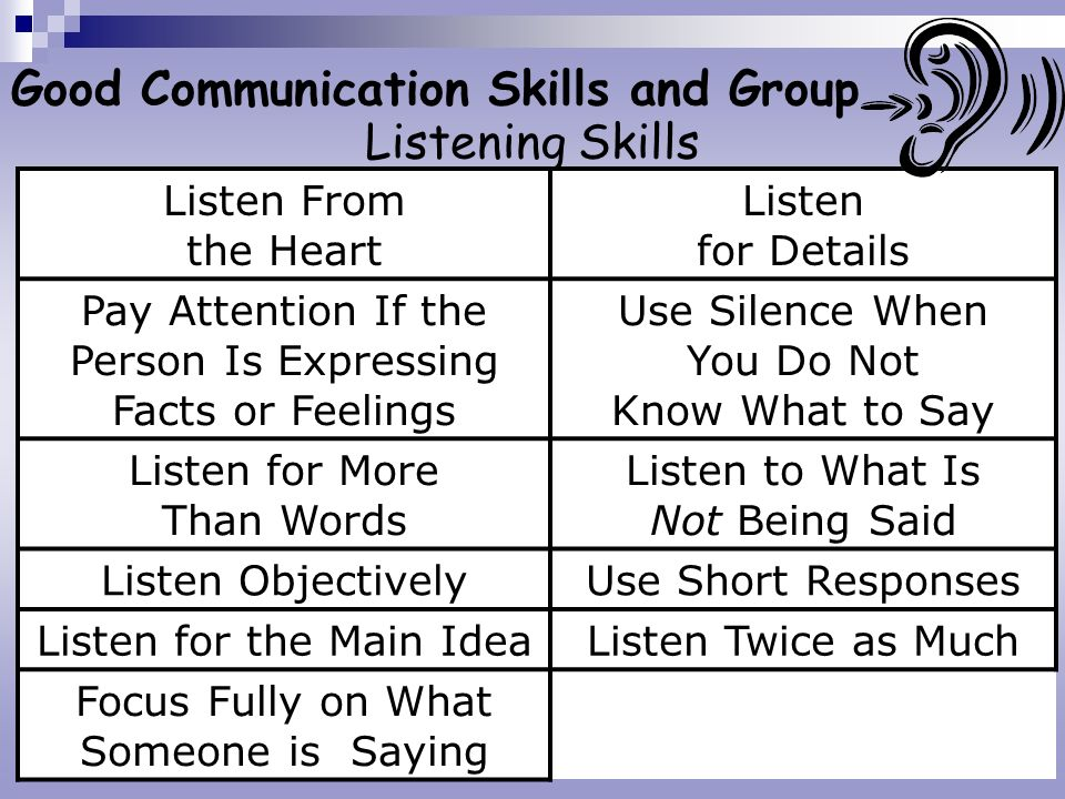 Good Communication Skills and Group Listening Skills