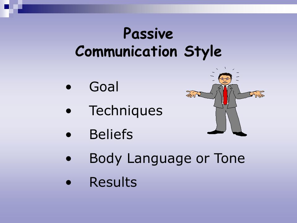 Passive Communication Style