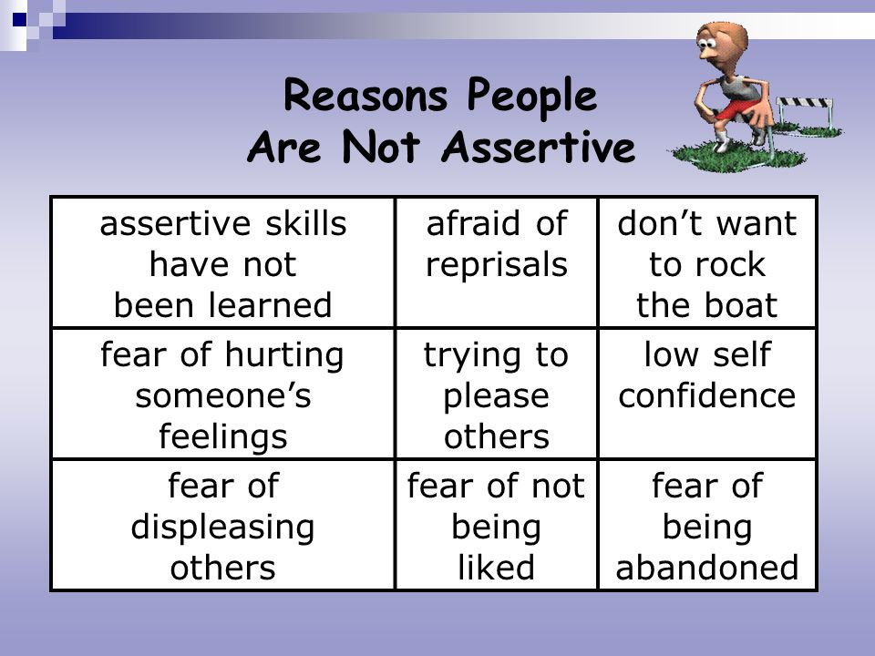Reasons People Are Not Assertive