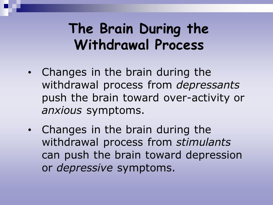 The Brain During the Withdrawal Process