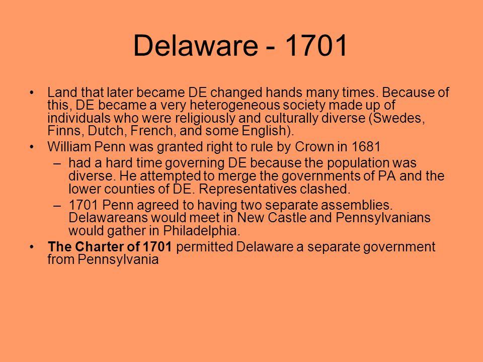 Delaware - 1701