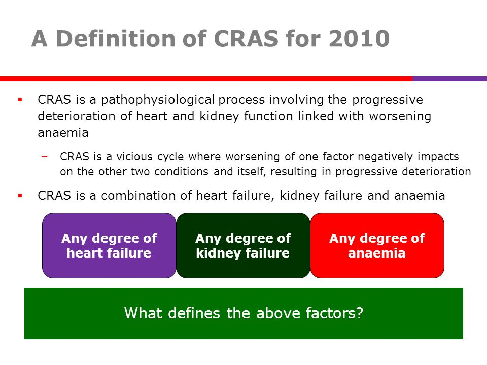 A Definition of CRAS for 2010