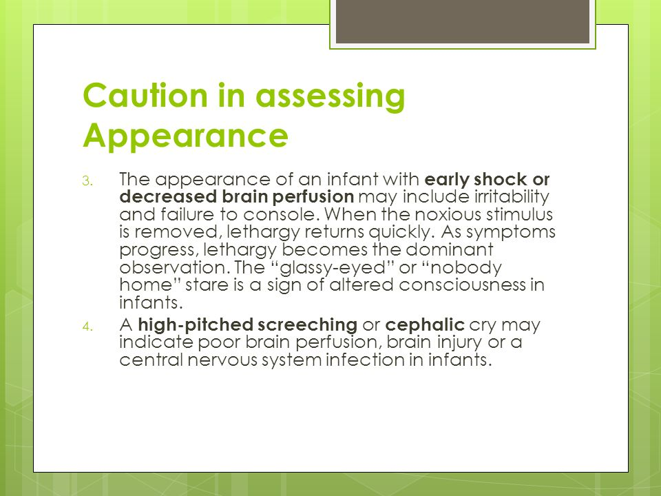 Caution in assessing Appearance