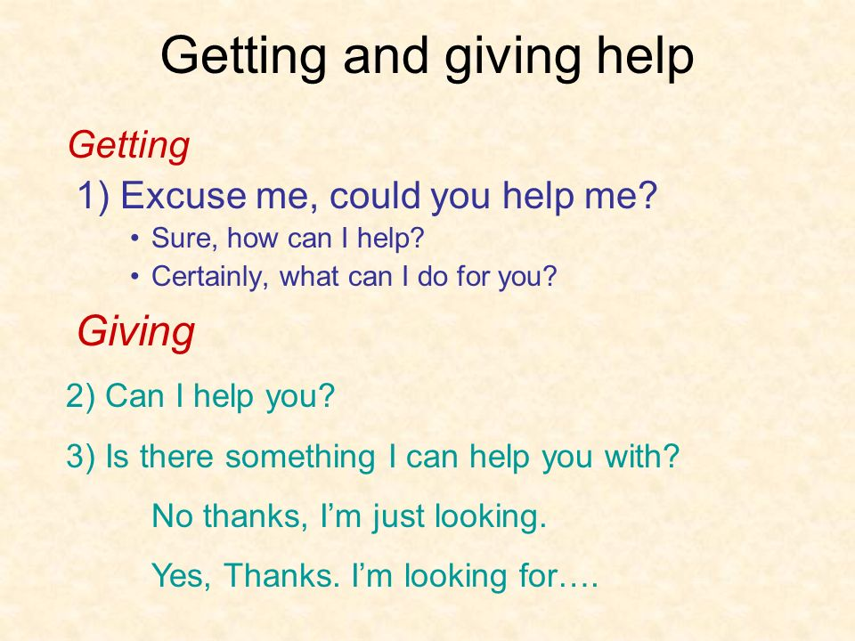 Getting and giving help