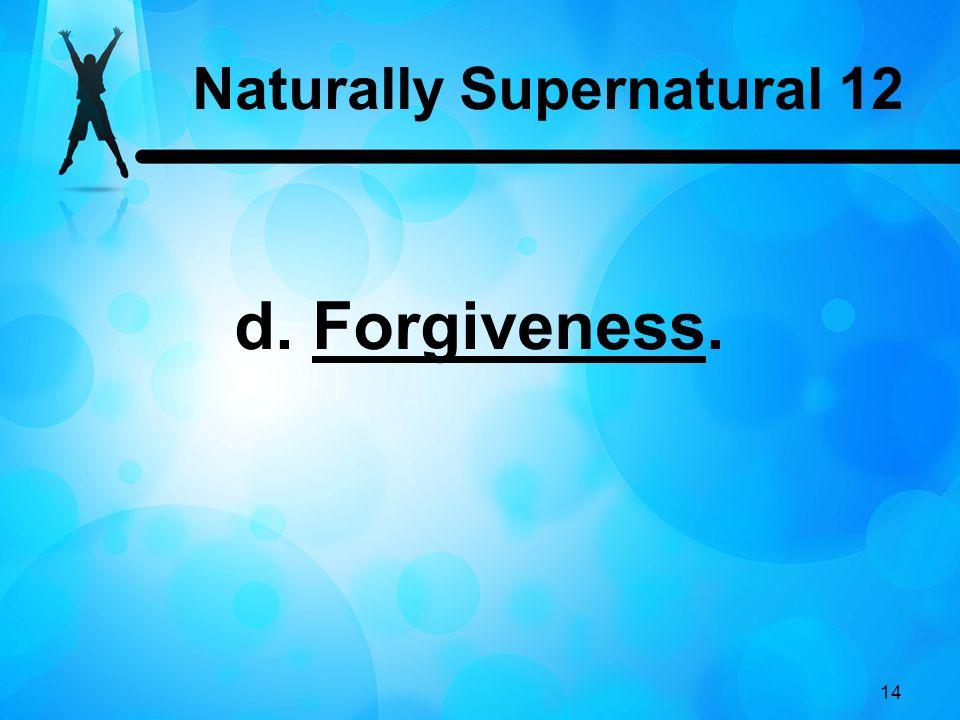 Naturally Supernatural 12