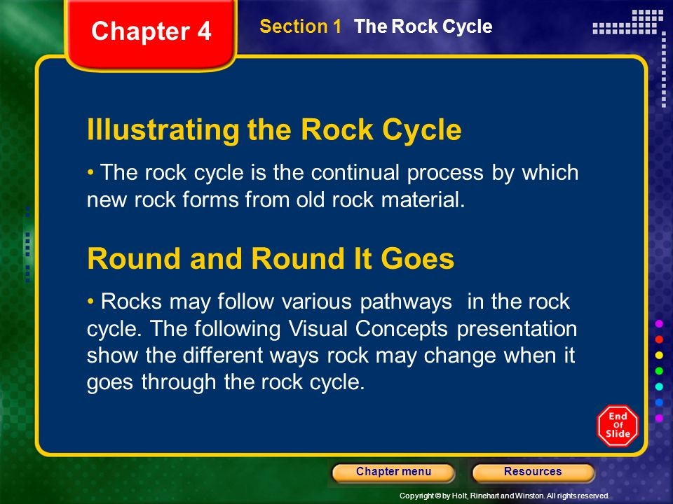 Illustrating the Rock Cycle