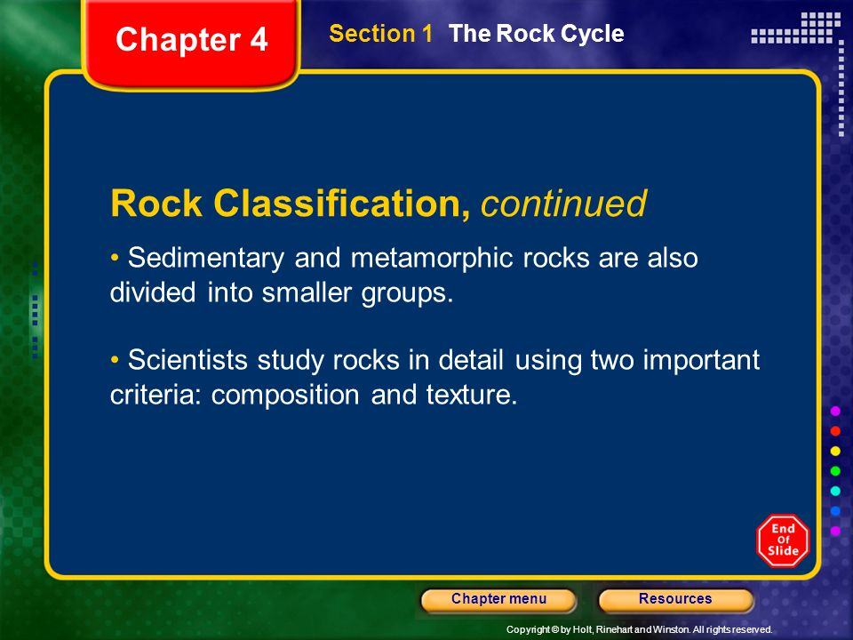 Rock Classification, continued