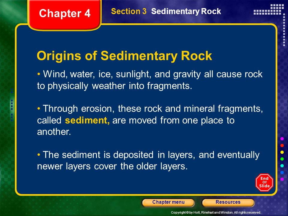 Origins of Sedimentary Rock