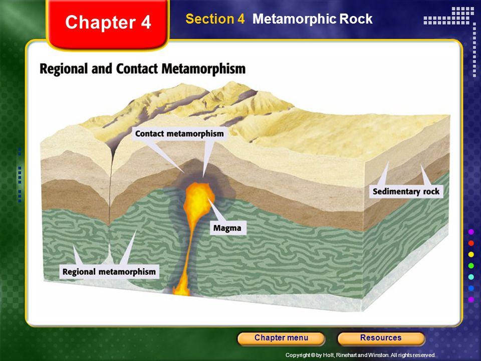 Chapter 4 Section 4 Metamorphic Rock