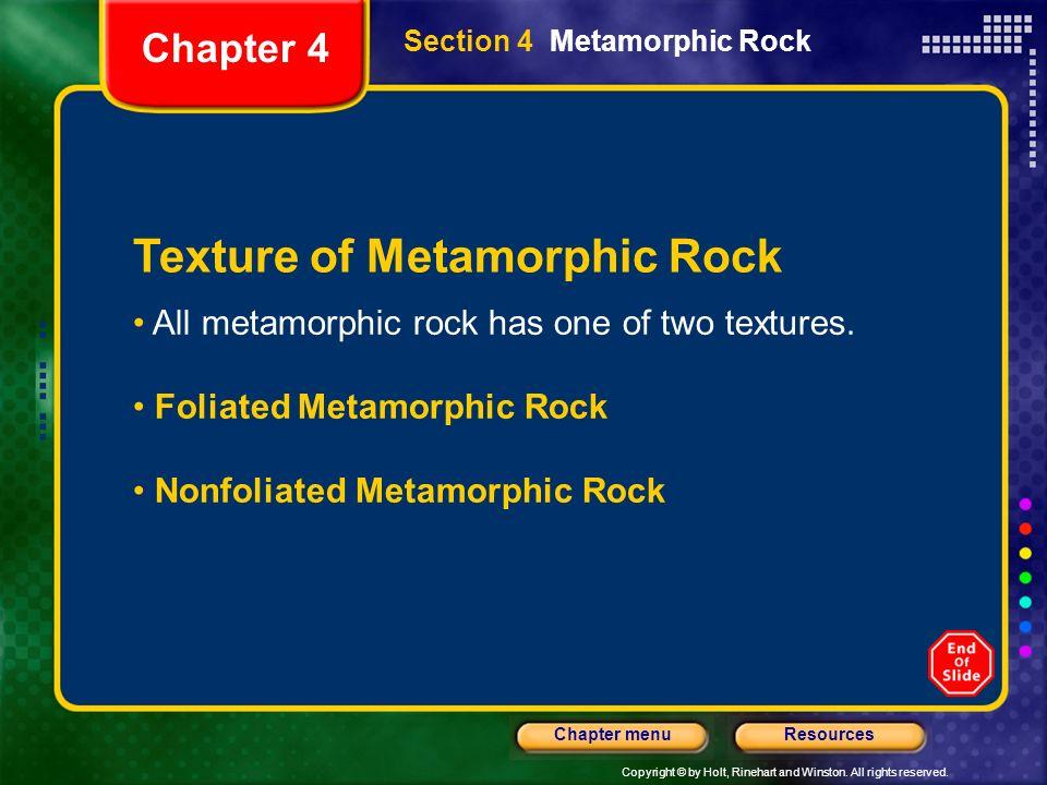 Texture of Metamorphic Rock
