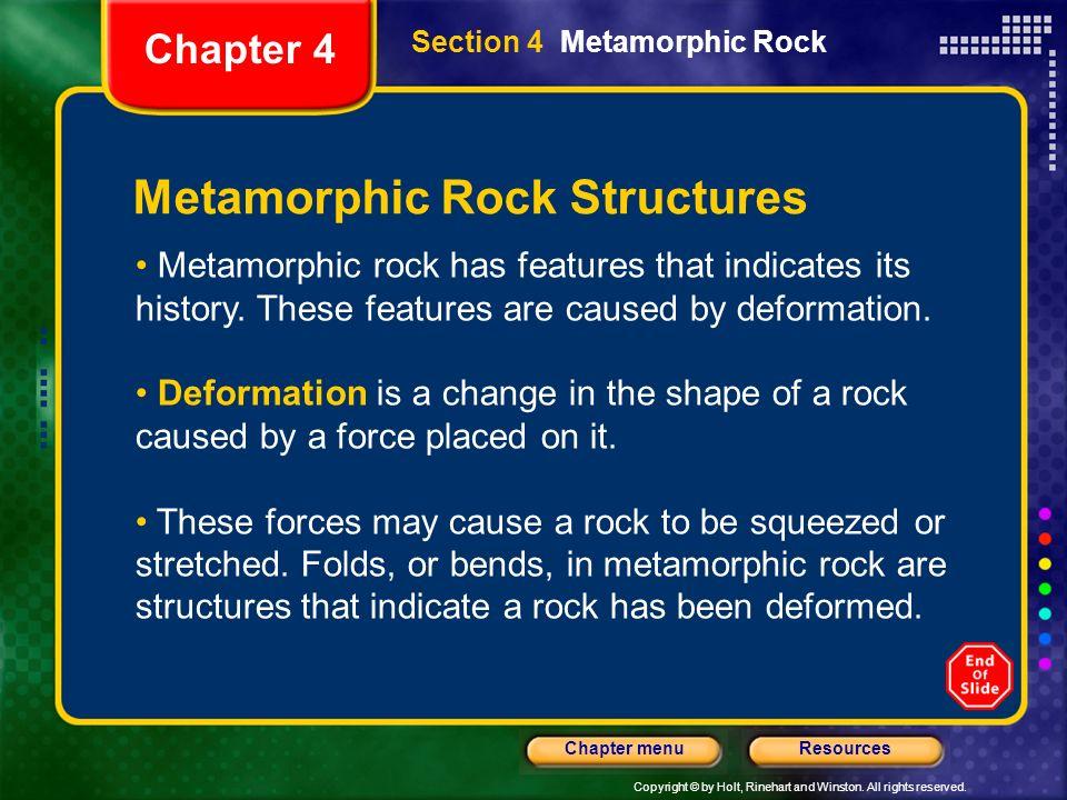 Metamorphic Rock Structures