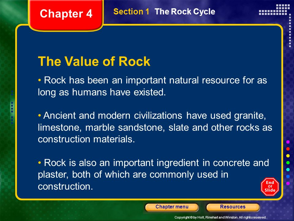 The Value of Rock Chapter 4