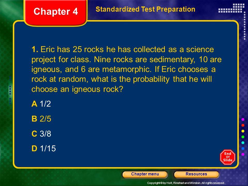Chapter 4Standardized Test Preparation.
