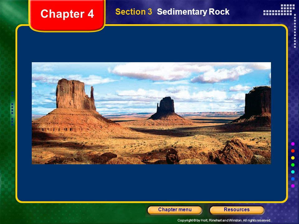 Chapter 4 Section 3 Sedimentary Rock