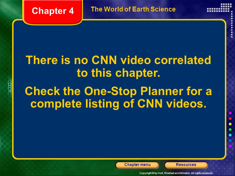 There is no CNN video correlated to this chapter.