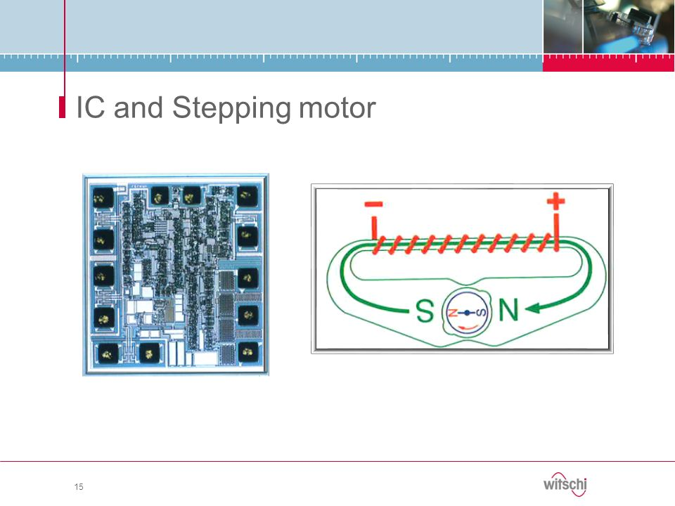 IC and Stepping motor 15