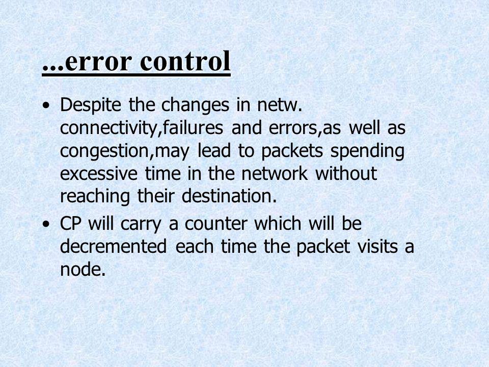 ...error control